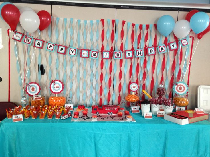 9 best Firehouse birthday party images on Pinterest