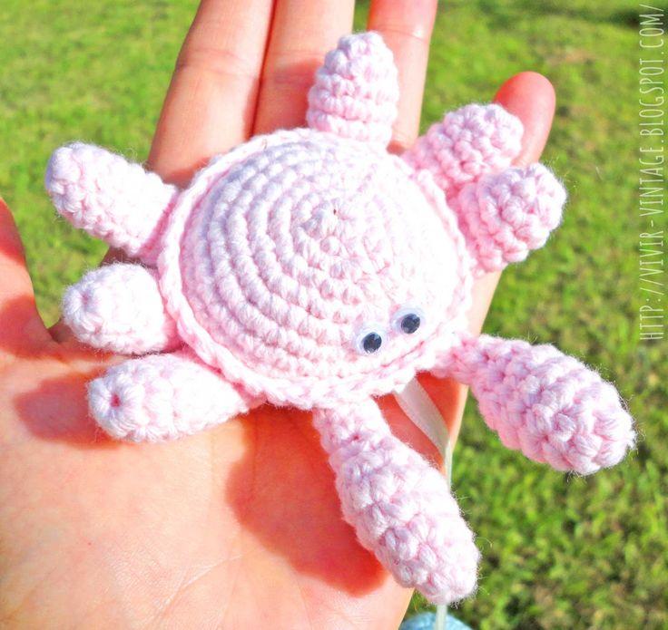 patron gratis - amigurumi - facil - cangrejo - crochet - como hacer