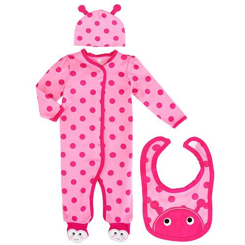 Koala Baby Girls Piece Pink Ladybug Layette Set