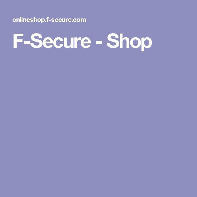 F-Secure - Shop