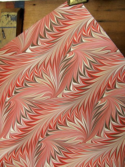 Vintage End Paper Handmade Feather Design by ADoseOfAlchemy