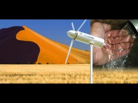 Obtención de Agua Pura del Aire con Eole Water's Wind Turbine - YouTube