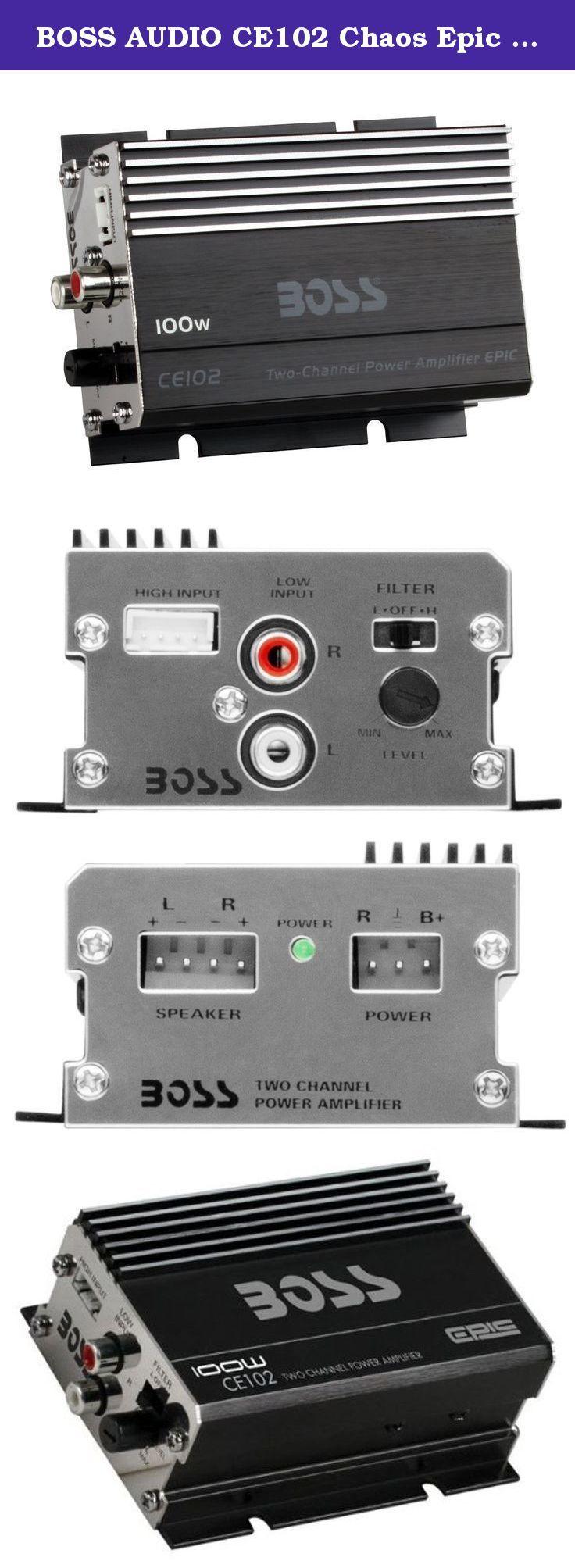 BOSS AUDIO CE102 Chaos Epic 100-Watt Full Range, Class A/B 4-8 Ohm Stable 2 Chan…