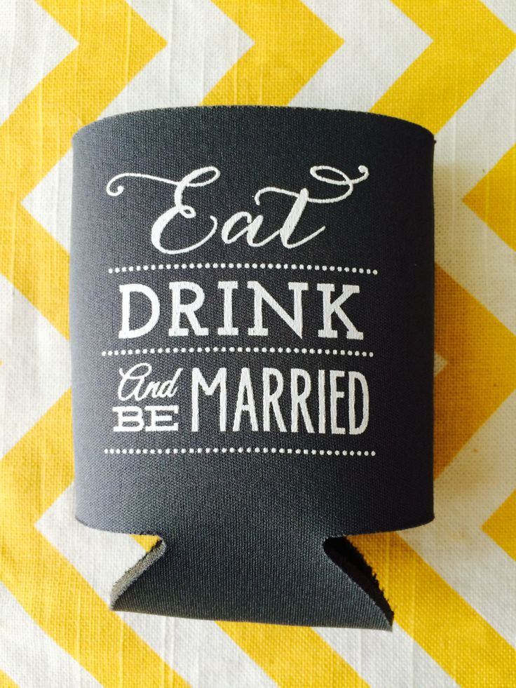Wedding Koozies, Eat Drink and be Married Koozie, Eat Drink Wedding Koozies (250 count) by RookDesignCo on Etsy