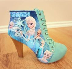 frozen elsa high heels shoes for girls kids real glass - Google ...