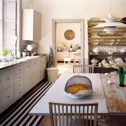 .Families Kitchens, Vintage Kitchens, Rustic Table, Farmhouse Table, Plates Racks, Kitchens Tables, Kitchens Ideas, Farmhouse Kitchens, White Kitchens