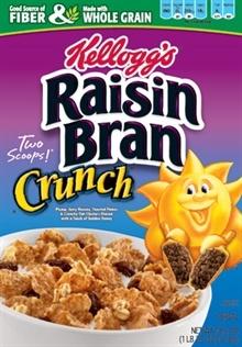 Yumm..Kelloggs Raisin Bran Crunch