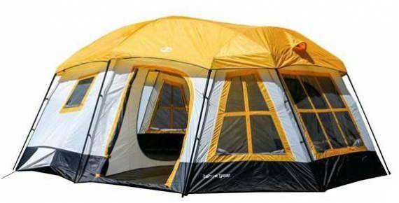 Bon Tahoe Gear Ozark 3 Season 16 Person Large Family Cabin Tent. #CampingTents