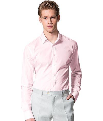 Pink 100% cotton Shirt http://www.tailor4less.com/en-us/men/shirts/2382-pink-100-cotton-shirt