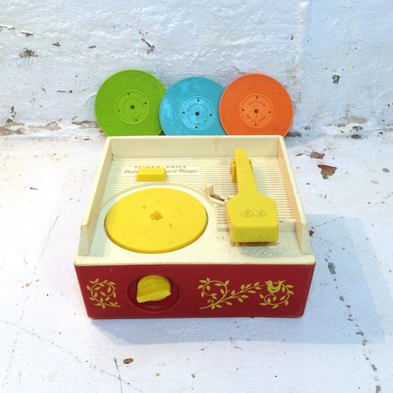 80s childrens toys | ... Record Player Childrens 80s Sound Toy Red Yellow Mechanical Vintage