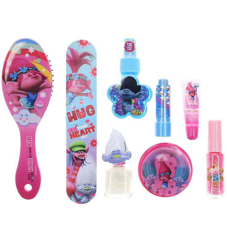 Amazon Com Smitco Llc Kids Nail Polish: Amazon.com: Townley Girl Dreamworks Trolls Makeup Kit For