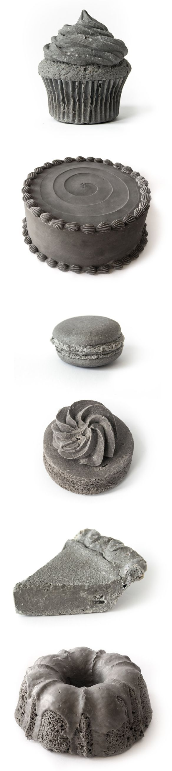 """coal comforts"" by spencer merolla (""baked"" goods made of ash from burned coal.) #climatechange #art #cupcakes"