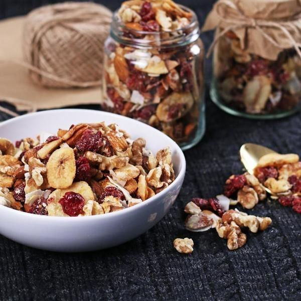YouFoodz | Protein Munchie Mix $4.95 | A healthy snack loaded with walnuts, whole almonds, coconut chips, banana chips, and dried cranberries, all toasted with protein | #Youfoodz #HomeDelivery #YoullNeverEatFrozenAgain