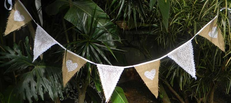 Hessian, lace and hearts
