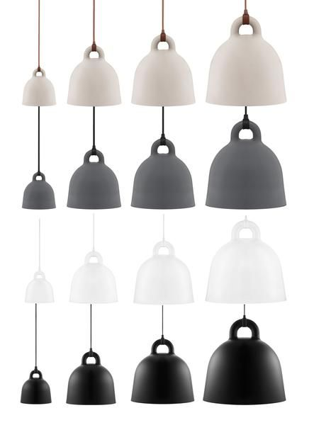 The expression of the Bell pendant lamp is robust, the form is simple. With its industrial, yet friendly look this directional lamp is ideal for both home decors and professional environments. The des