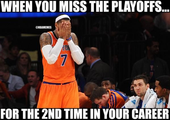 Carmelo Anthony's realization. #Knicks - http://nbafunnymeme.com/nba-memes/carmelo-anthonys-realization-knicks