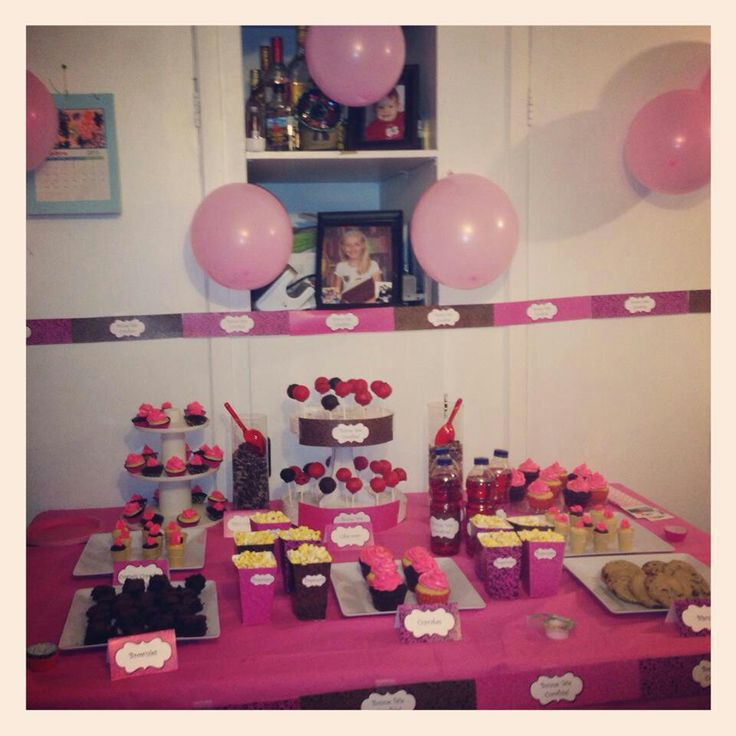 Sweet table #sweetable #leopard #quebec #birthday #11birthday #11eanniversaire #cupcake #cakepop