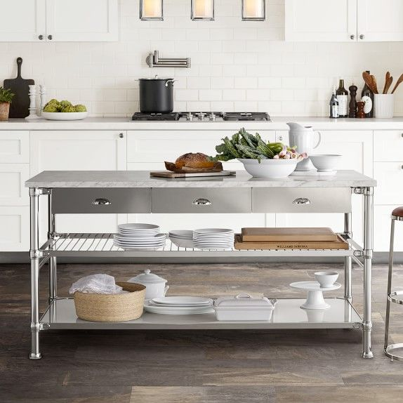 Pin By Julie Johnson On Cosina Casa Marble Top Kitchen Island Kitchen Marble Kitchen Island With Drawers