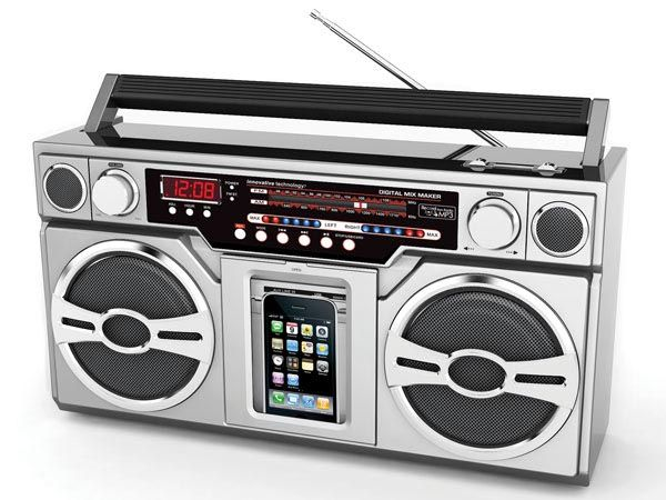 Retro Boombox Styled iPod Dock with Portable Speakers.. This Boombox brings back memories from back in the day...