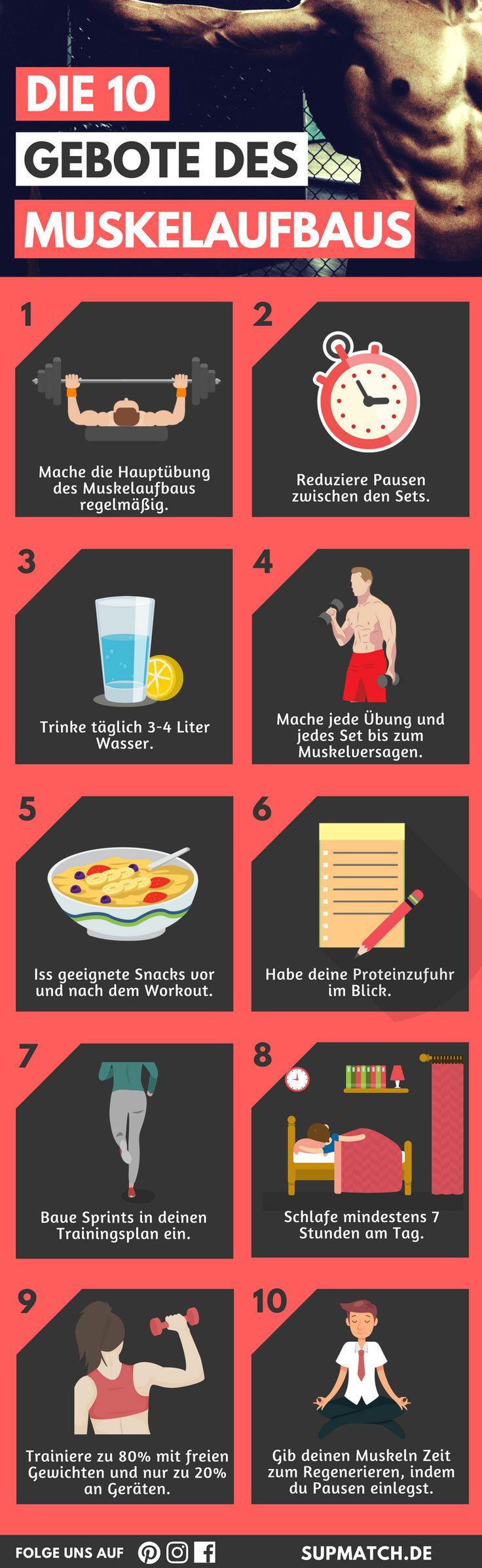 Die 10 Gebote des Muskelaufbaus - Verbessere deine Fitness und fördere den Muskelaufbau!