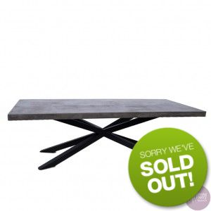 Sitting Pretty Furniture - Hunter Concrete Table - Grey/Black - 240cm - DUE EARLY SEP