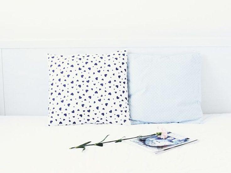 DIY-Anleitung: Einfachen Kissenbezug ohne Reißverschluss und Knöpfe nähen / sewing tutorial: simple pillowcase without zipper and buttons via DaWanda.com