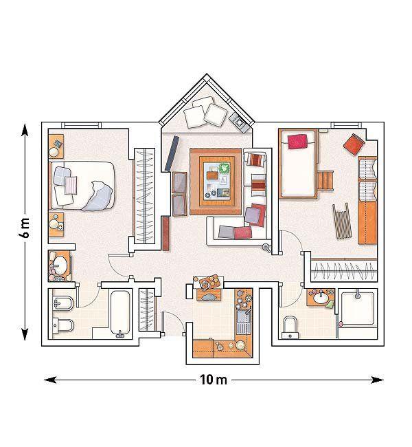 Un apartamento de 60m² en Baqueira