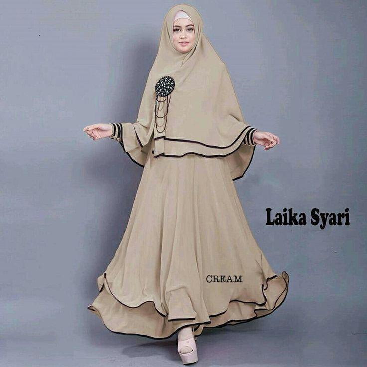 Gamis Syar'i Modern LAIKA CREAM - http://warongmuslim.com/gamis-syari-modern-laika-cream/