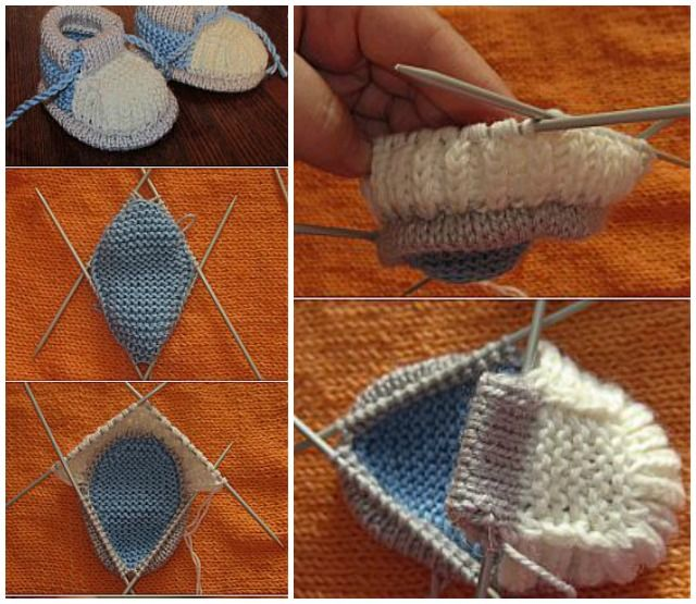 DIY Knit Baby Booties Free Pattern