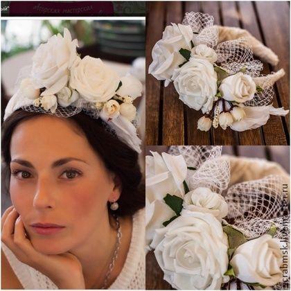 Ободок Свадебный - ободок свадебный,венок для невесты,венок на голову