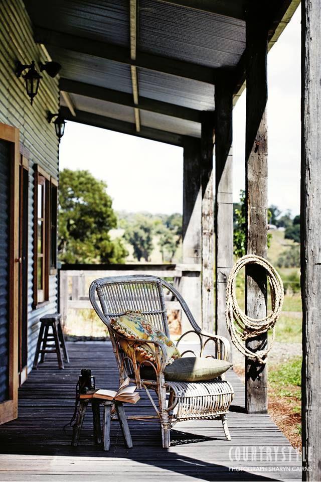 Country Style Magazine. Photography Sharyn Cairns Styling Glen Proebestel #veranda #quietcorner