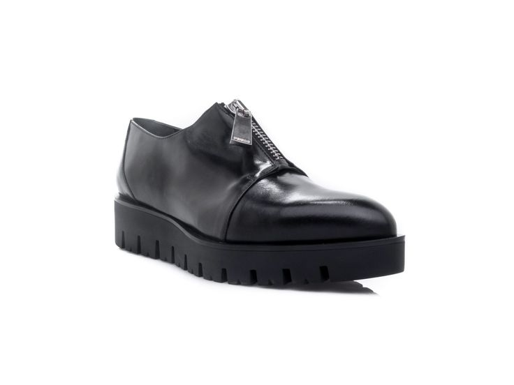 PINKO - Shoes woman Isotrone top zip closure in leather - Black - Elsa-boutique.it <3 #Pinko
