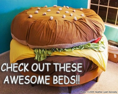 Check out these awesome beds! I'm sure our kids would love to have any of these! Heck I would!! lol