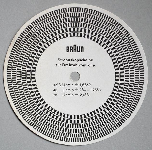Braun stroboscope for speed control, c.1960