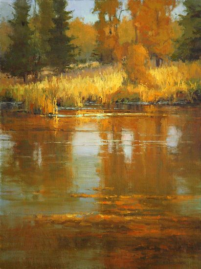 Kim Casebeer - Reflections- Oil - Painting entry - November 2011 | BoldBrush Painting Competition