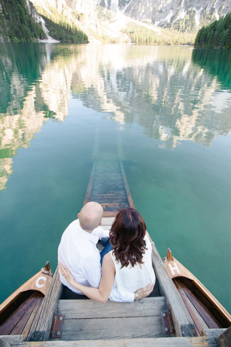The weather, the lake, the reflections, their love story all came together to create this magical experience and a fairy tale engagement session.