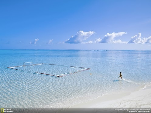 Ocean water polo pitch: Nat Geo photo contest...bit of fantasy here...