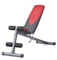 Weider Incline Weight Bench Read more: http://www.weightbenchguides.com/top-rated-adjustable-weight-bench-reviews/ This is a multi-position bench that is designed for dumbbell and other weightlifting exercises. It incorporates 6 angle adjustments with the seat being adjusted at 90 degrees. The seat and the backrest are properly cushioned and stapled at the back for great user comfort.