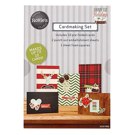 Rosie's Studio Home For The Holidays Cardmaking Pad 10 Pack