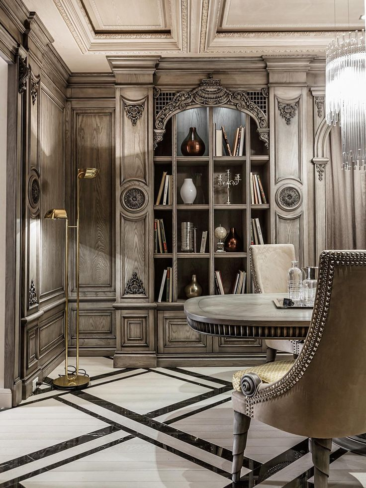 294 best luxe interiors images on pinterest art deco for Modern neoclassical interior design