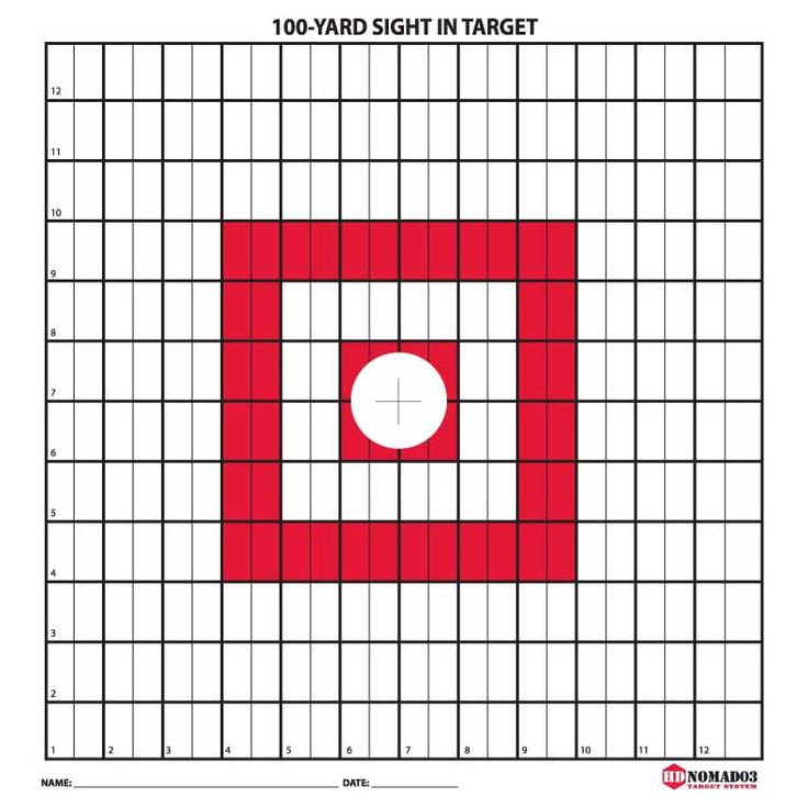 100 Yard Target   Range and Targets   Pinterest   Yards ...