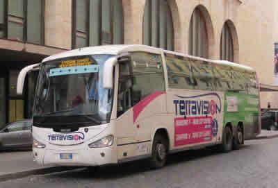 Terravision Rome Airport Bus At Termini Station