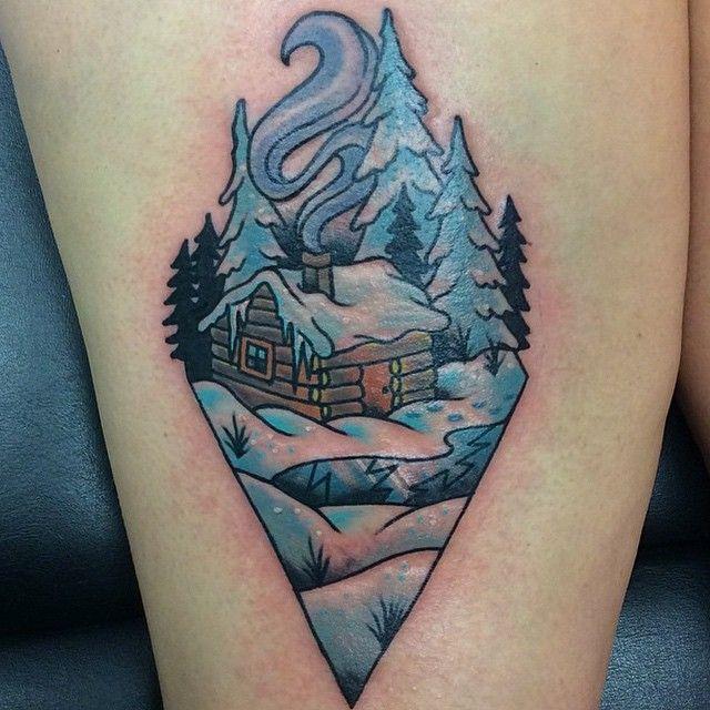 Nice little cabin by Wes Pratt.