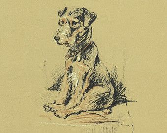 Impression de chien de TERRIER des années 1930 Lucy par BookStyles