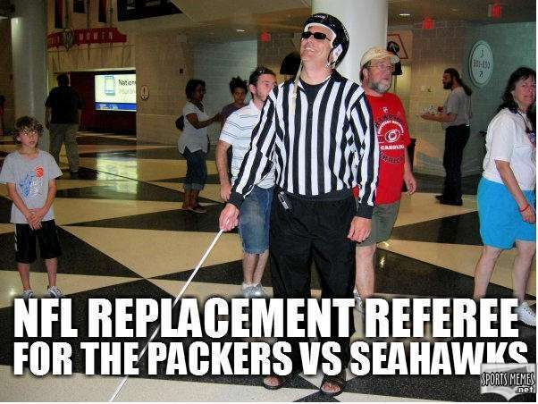 green bay packer vs seahawks memes | SportsMemes.net > Football Memes > Seahawks vs Packers Replacement