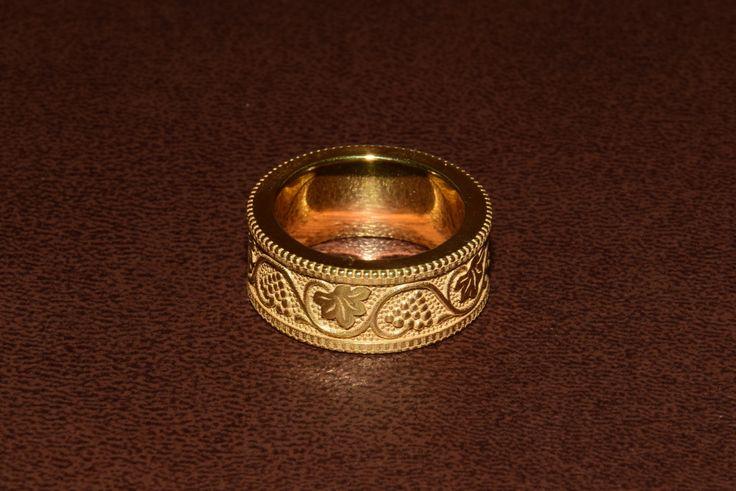 14k Gold Leaf Ring Wedding Leaf Ring Gold Leaf Band 14k
