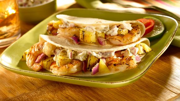 Tacos de Crevettes Teriyaki Grillées