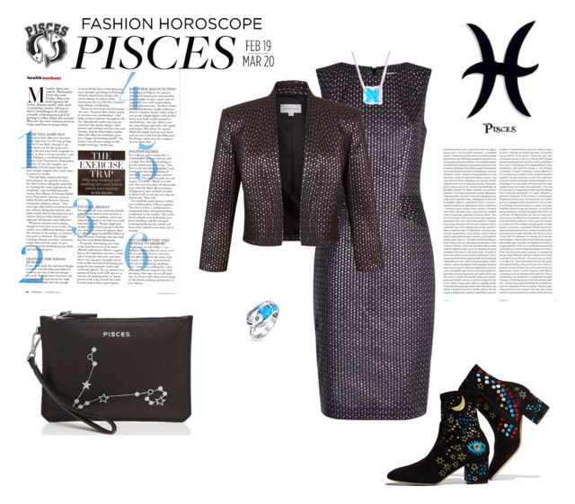 """""""pisces"""" by agnesmakoni ❤ liked on Polyvore featuring Valentino, Good American, Fenn Wright Manson, Bling Jewelry, Lucky Eyes, Oris and Etienne Aigner"""