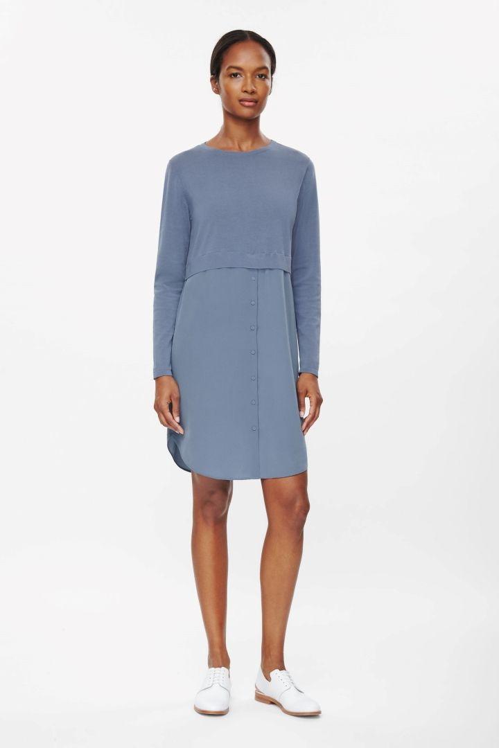 COS | Silk skirt cotton dress