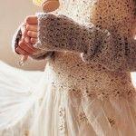 DIY crochet mittens